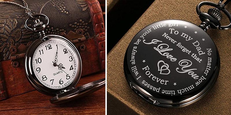 Review of Hicarer Dad Gift from Daughter to Father Engraved Pocket Watch