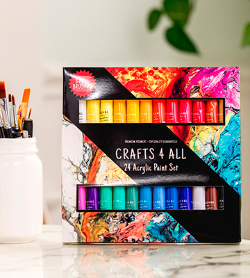 Review of Crafts 4 ALL Acrylic paint 24 Set