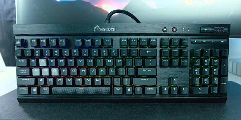Corsair K70 RGB Backlit Mechanical Keyboard in the use