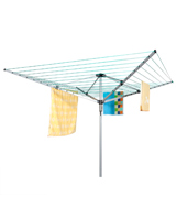 Homegear Washing Line Outdoor 4 Arm 50m Rotary Clothes Airer Dryer
