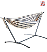 VonHaus 2 Person Fabric Hammock with Stand