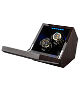 INCLAKE Watch Winder Extremely Quiet Motor, Blue Illumination with 4 Setting Modes