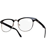 Morefaz Retro Black Vintage Reading Glasses
