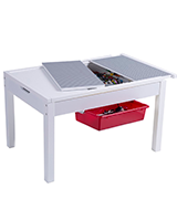 UTEX 2-In-1 Kid Activity Table with storage compartment