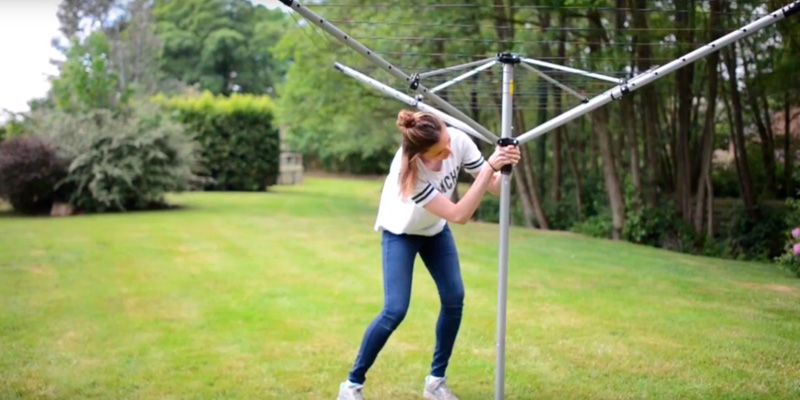 Review of The Home Laundry Company LYQ220-40S Premium quality 40 metre Rotary Washing line with FREE Ground Spike and Cover