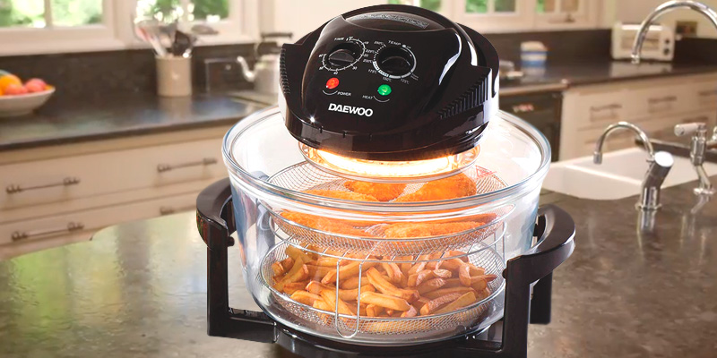 Review of Daewoo Deluxe 17L Halogen Oven with an Extension Ring- 60min Timer