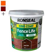Ronseal RSLOCFLCE5L One Coat Fence Life