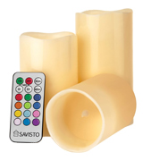 Savisto SV-HOUS-Z018 Flameless Candles with Colour Changing