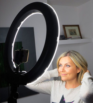 Review of EACHSHOT ES180 Kit Stepless Adjustable Ring Light with stand