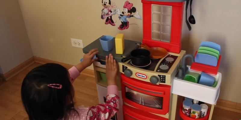Little Tikes Cook 'n Store Kitchen Playset in the use