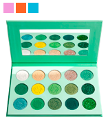 Afflano Green Matte and Glitter Eyeshadow Palette