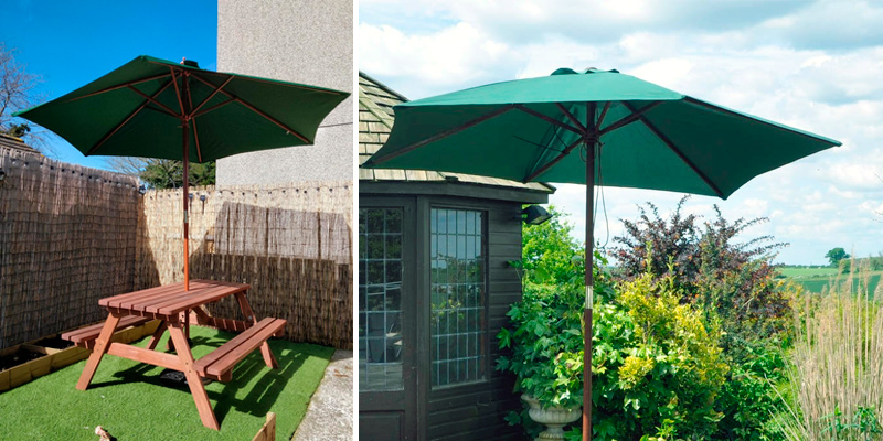 Review of Kingfisher P27G Wooden Garden Parasol
