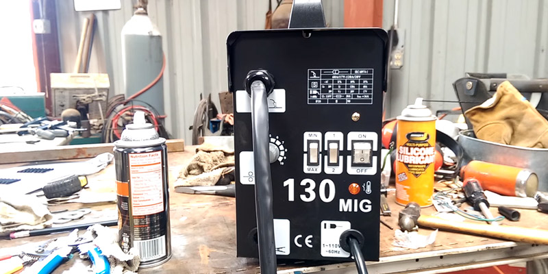 Tammible TAMUK MIG 130 Welder Welding Machine in the use