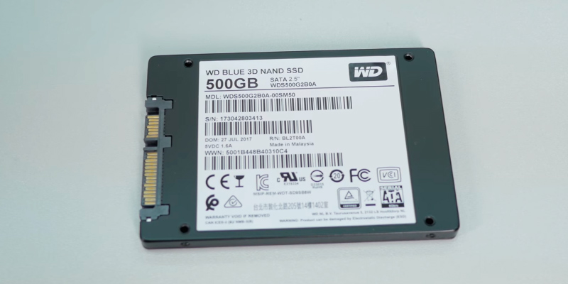 Western Digital Blue (WDS500G2B0A) in the use