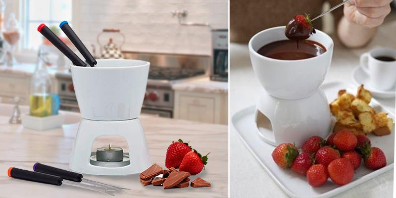 KitchenCraft Chocolate Fondue Set in the use