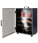 Klarstein GQM2-Flintstone Steel Smoker Oven with 3 Smoker Trays