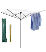 Marko Homewares Washing Line 4 Arm 40M Rotary Airer Clothes Dryer Outdoor Laundry Washing Line Ground socket