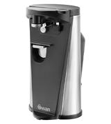 Swan Black Electric Can / Tin and Bottle Opener with Knife Sharpener