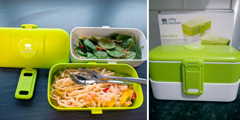 Review of Nifty Kitchen Bento Lunch Box Microwave Safe for Adults & Kids