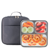 Modetro Bento Lunch Box 3 Portion Control Leak Proof Compartments