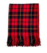Highland Tartan Tweeds of Scotland Wool Blanket