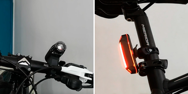 Review of Cycleafer 200 LM Bike Light Set