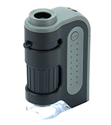 Carson MM-300 MicroBrite Plus 60x-120x Power LED Lighted Pocket Microscope