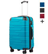 Coolife Expandable Hard Shell Suitcase with TSA Lock