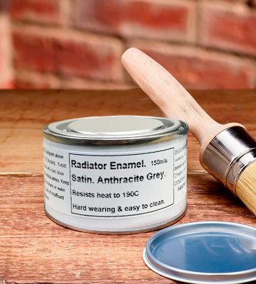 Review of Fascinating Finishes Ltd Radiator Paint 1 x 150ml Anthracite/Dark Grey Heat Resistant Satin