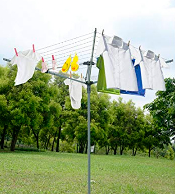 Review of Marko Homewares Washing Line 4 Arm 40M Rotary Airer Clothes Dryer Outdoor Laundry Washing Line Ground socket