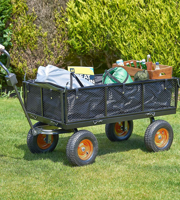 Review of VonHaus 600kg Mesh Garden Cart with Lining - Heavy Duty 4 Wheeled Garden DIY Trailer and Trolley