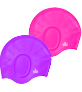 The Friendly Swede Silicone Long Hair Swimming Caps with Ear Pockets
