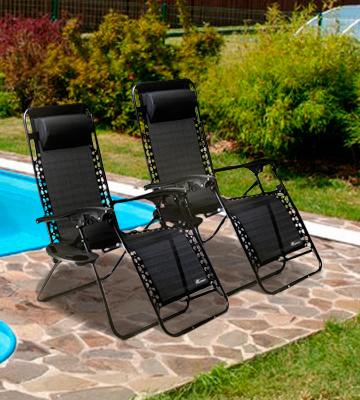 Review of SUNMER (SNM-BK) Set of 2 Folding Recliner Zero Gravity Outdoor Chairs