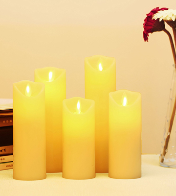 Review of YIWER Real Wax Flameless Candles