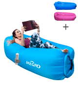 IREGRO Inflatable lounger Waterproof inflatable Sofa with Storage Bag Air Sofa lounger