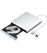 Patuoxun PPC013S-UKAE2 External DVD/CD Drive with USB 3.0 and Type-C Interface, Portable CD-RW/DVD-RW Burner and Reader