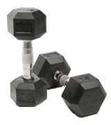 Bodymax Rubber Hex Dumbbells