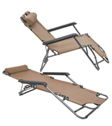 AMANKA 15781 Folding Sun Lounger Foldable Deck Chair