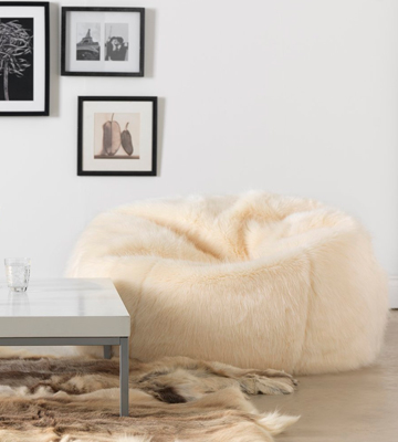 Review of Icon Extra Large Bean Bag XL White Faux Fur (Cream)