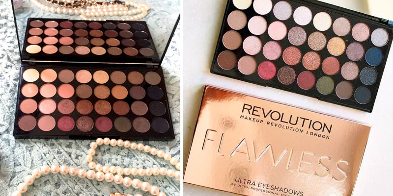 Review of Makeup Revolution Shimmers and Matte Nudes Eyeshadows Flawless Palette