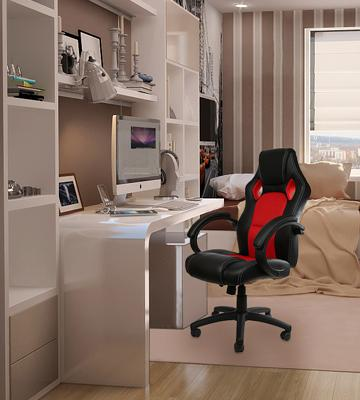 Review of IntimaTe WM Heart PU Leather Swivel PC Chair