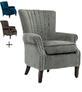 Cosy Chair OLENKA VELVET Occasional Wing Back Chair