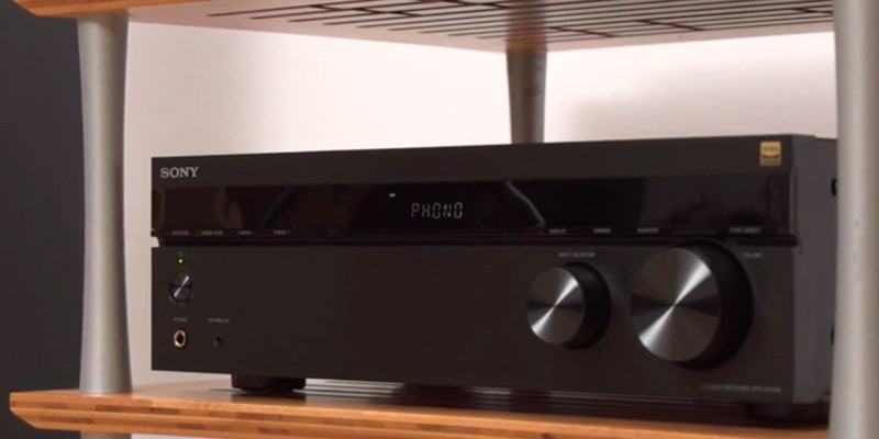 Sony STRDH190.CEK 2 Channel Amplifier with Phone Input and Bluetooth in the use