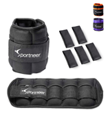 Sportneer 2 Pack Adjustable Ankle Weights Se