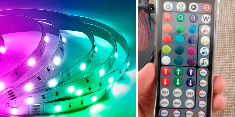 Review of Mexllex 15M Music Sync Colour Changing RGB LED Strip 44-Key Remote