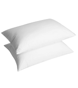 UMI Essentials Pack of Two White Goose Feather Pillows