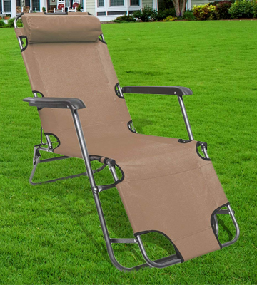 Review of AMANKA 15781 Folding Sun Lounger Foldable Deck Chair
