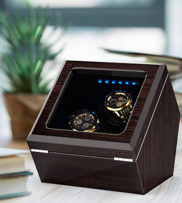 Review of INCLAKE Watch Winder Extremely Quiet Motor, Blue Illumination with 4 Setting Modes