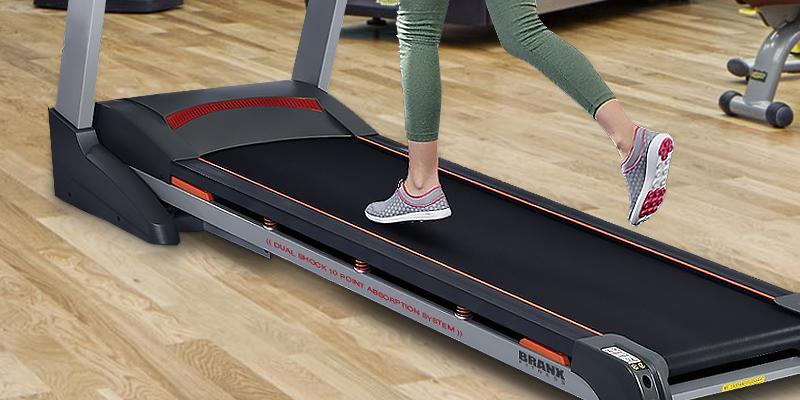 Branx Fitness Foldable Touchscreen Console Treadmill in the use