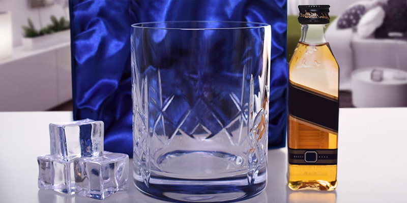 Lucy G Silk Giftbox Personalised Whiskey Glass in the use